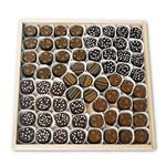 66 artisanal chocolate truffles on a glass platter from eCondolence.com