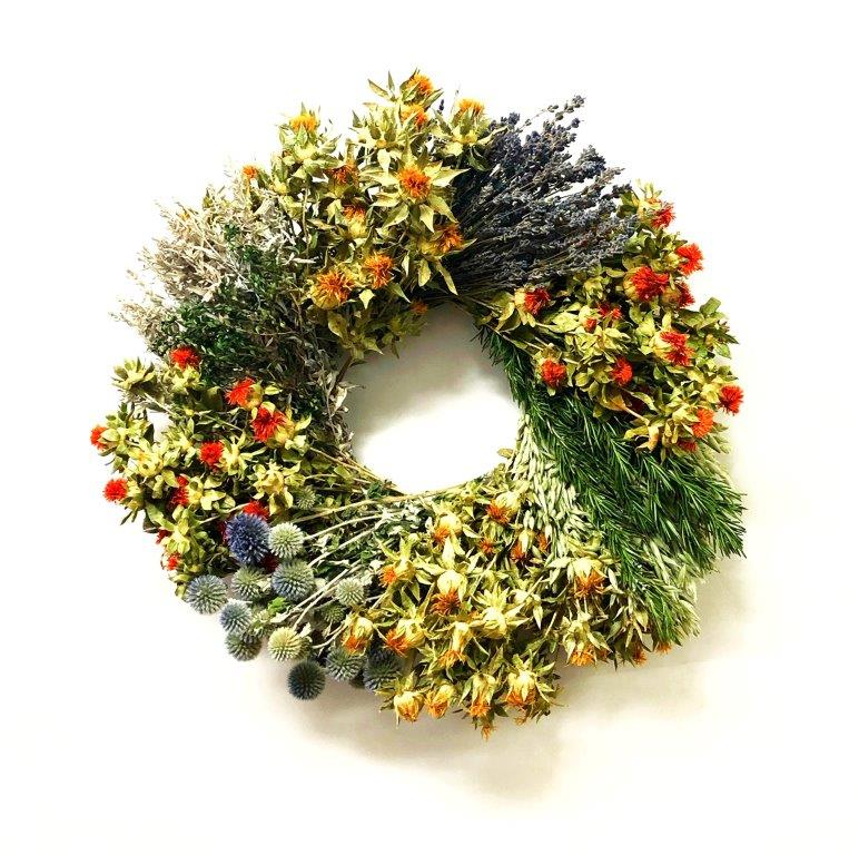 Floral and Herb Wreath Wheel eCondolence
